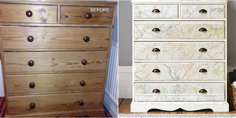 Upcycle Drawers by Pine Chest Of Drawers Upcycled With Stylish Vintage Map Design