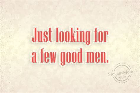 Looking for a few good men recruiting poster