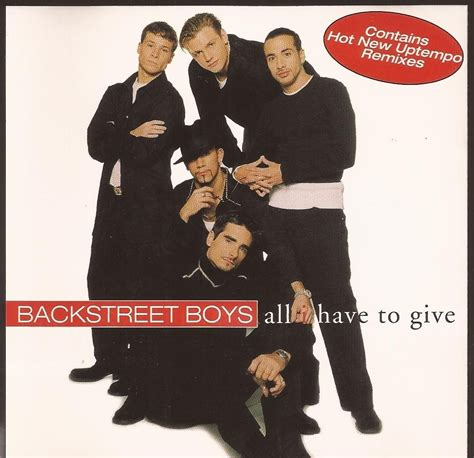 all i have to give cd single backstreet boys all i have to give importado r