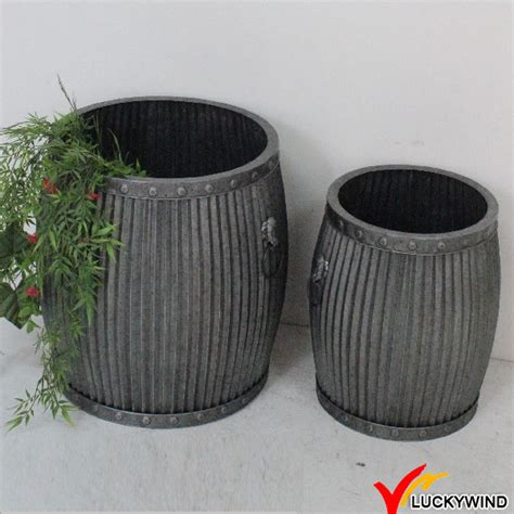 Decorative Metal Planters by Antique Style Metal Decorative Large Planters View