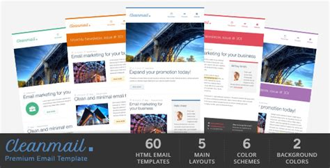 Rocket Mail Clean Modern Email Template By Gifky Themeforest Zendesk Modern Email Template