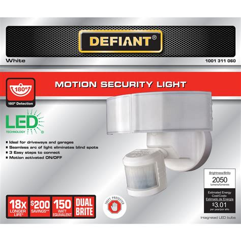 defiant 180 motion security light defiant 180 degree outdoor white motion security light
