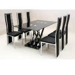 cheap heartlands shiro glass small dining table set 6