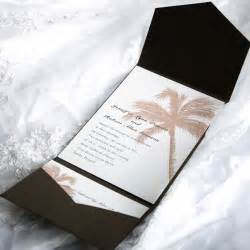 tropical pocket wedding invitation sets ewpi005 as low as 1 69