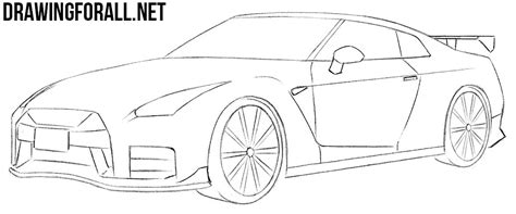 nissan skyline drawing outline how to draw a nissan gt r drawingforall