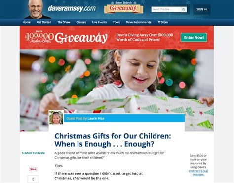 when is enough christmaspresents gifts for our children when is enough enough guest post on daveramsey