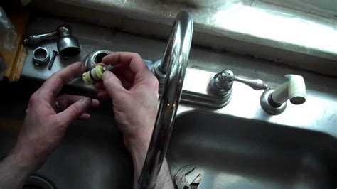 How To Change A Washer In A Faucet by How To Replace The Washer And On A Delta Style Sink
