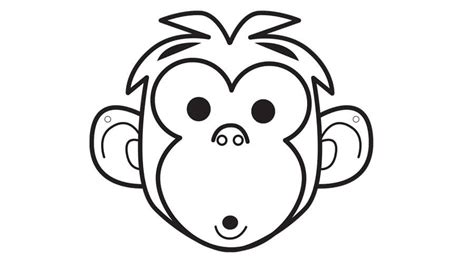 printable monkey mask template printable animals crafts to do with kids