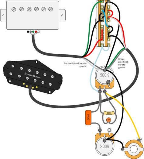 seymour duncan sh1n wiring diagram 2 humbucker 1 volume 1