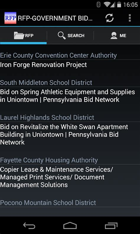 government contracts for bid rfp government bid contract android apps on play