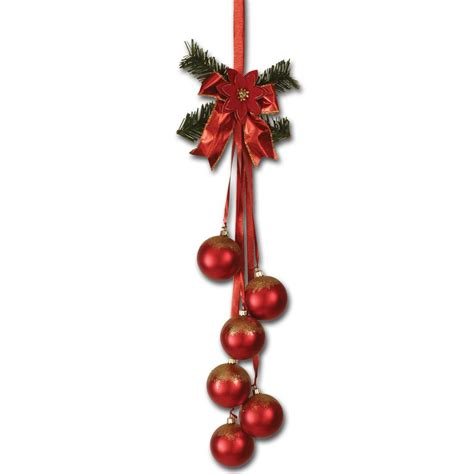 red christmas bauble cluster 60cm peeks