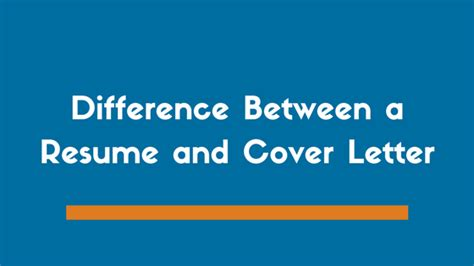 the difference between a cover letter and resume the difference between a cover letter and resume zipjob
