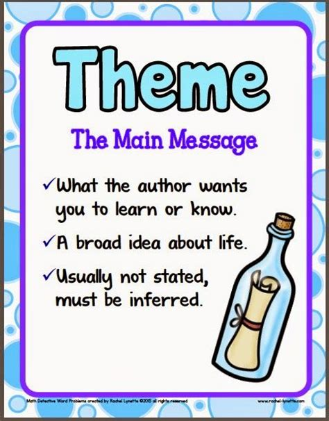 theme in literature rap finding theme worksheets high school middle school