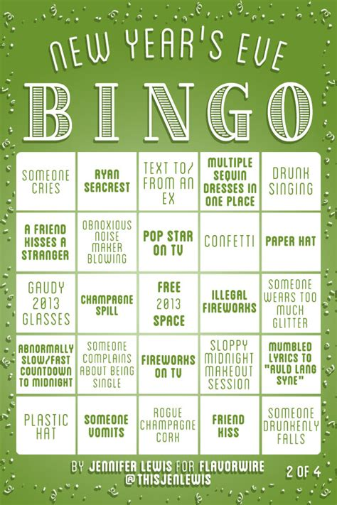 new year picture bingo exclusive new year s bingo flavorwire