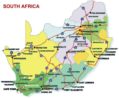 south africa map with cities all cities map of south africa pictures to pin on