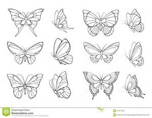 set of hand drawn butterflies stock photo image 57471652