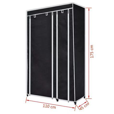 armario negro armario de tela plegable negro 2 unidades vidaxl es