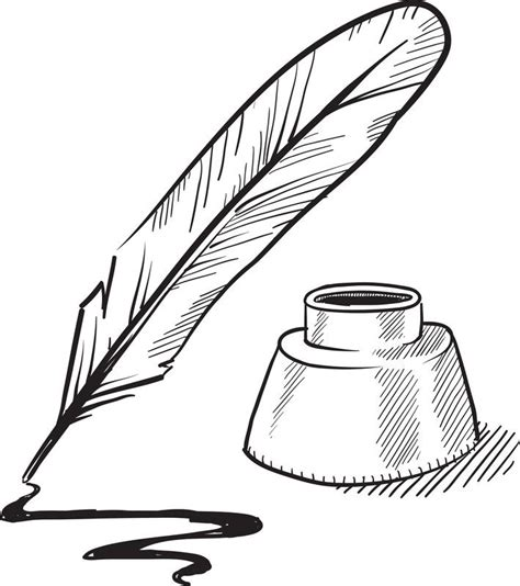 quill sketch book book and quill clipart