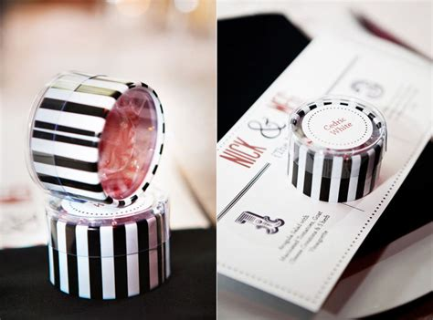 Wedding Reception Giveaways - wedding reception guest favors black white red candy onewed com