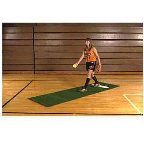 Softball Pitching Mat by Softball Pitching Mat Without Stride Line 3 X 10
