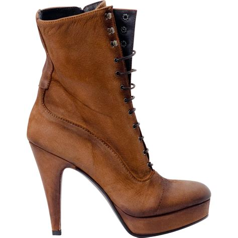 alison brown nappa leather lace up ankle boots paolo shoes