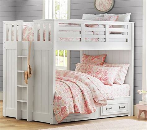 bunk beds pottery barn belden full over full bunk pottery barn kids