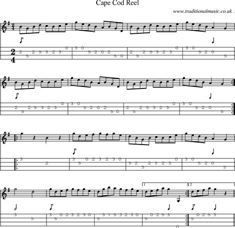 cape cod sheet american time scores and tabs for mandolin