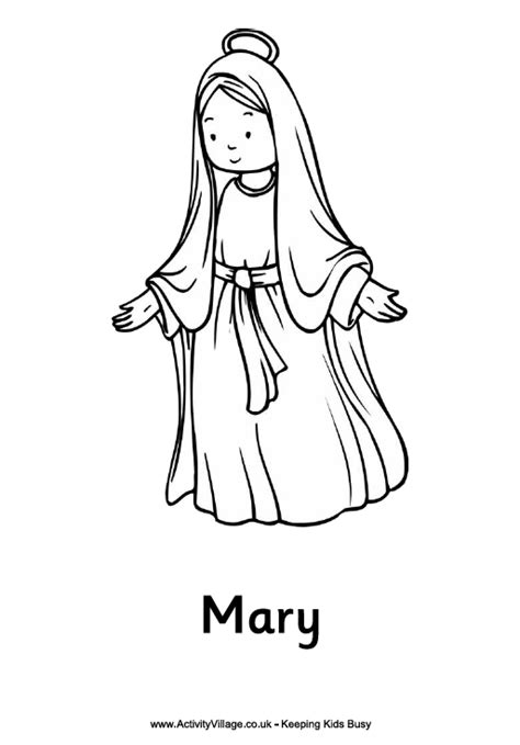 mary seten free colouring pages