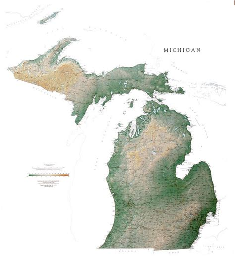 large map of michigan michigan wall map a spectacular physical map of michigan
