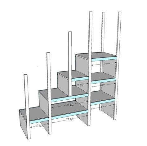Staircase Bunk Bed Plans White Build A Sweet Pea Garden Bunk Bed Storage Stairs Free And Easy Diy Project And