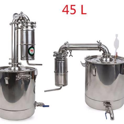 Peralatan Dapur 7 In 1 45l distiller stainless steel distillation liquid extraction purification machine 7 peralatan