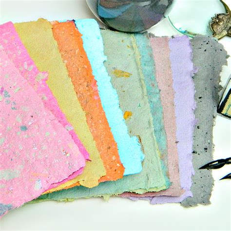 Handmade Paper Uses - how to beautiful handmade paper in custom colors make