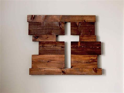 Paper Crafts To Make And Sell - rustic wood crafts to make and sell cross sign