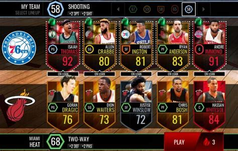 Robert Covington Bigman Mba Live Mobile nba live mobile totw 15 which players you would add in
