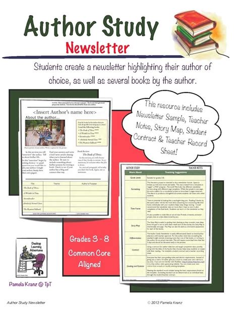 newsletter templates for books author study newsletter newsletter format author