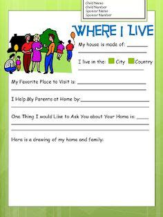 All About Me A Free Letter Writing Template For Kids To Write To Compassion International Compassion Letter Writing Template