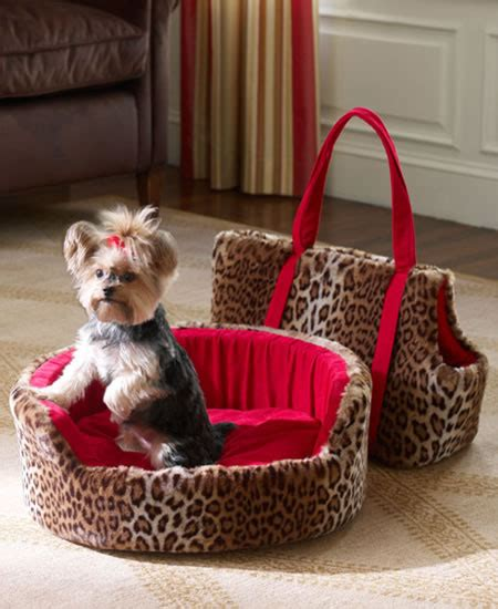 girl dog beds this is so cute except the bed the carrier and the bow in the dog s hair would be