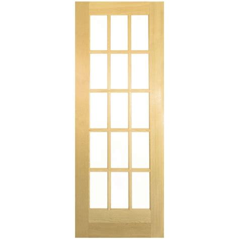 doors home depot interior jeld wen 28 in x 80 in woodgrain flush unfinished hardwood bored interior door slab