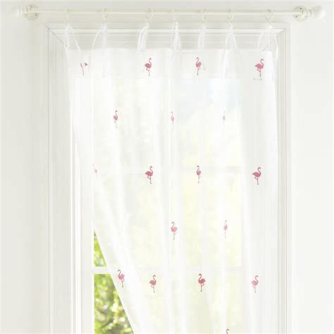 flamingo curtains summer icon sheers flamingo contemporary curtains