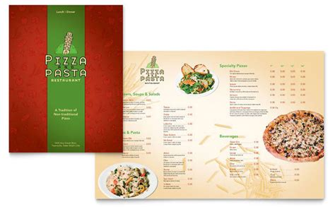 italian menu template italian pasta restaurant menu template design