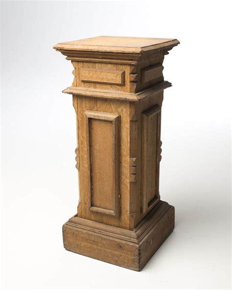 Pedestal Wood pd013 carved framed wood pedestal acme studio