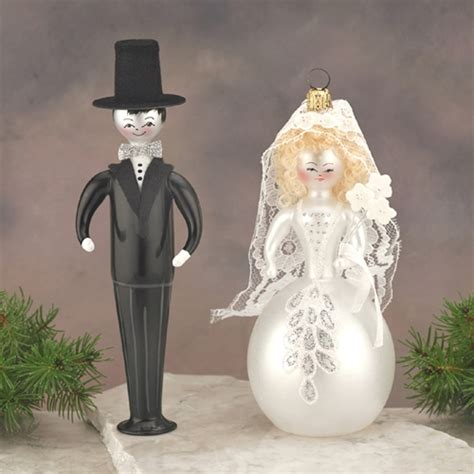 de carlini bride and groom christmas ornaments set 2 the