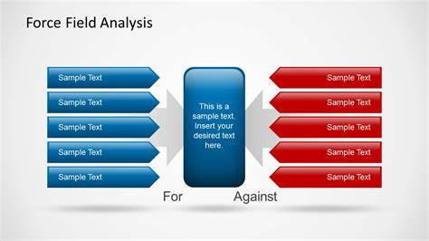 force field analysis powerpoint template slidemodel