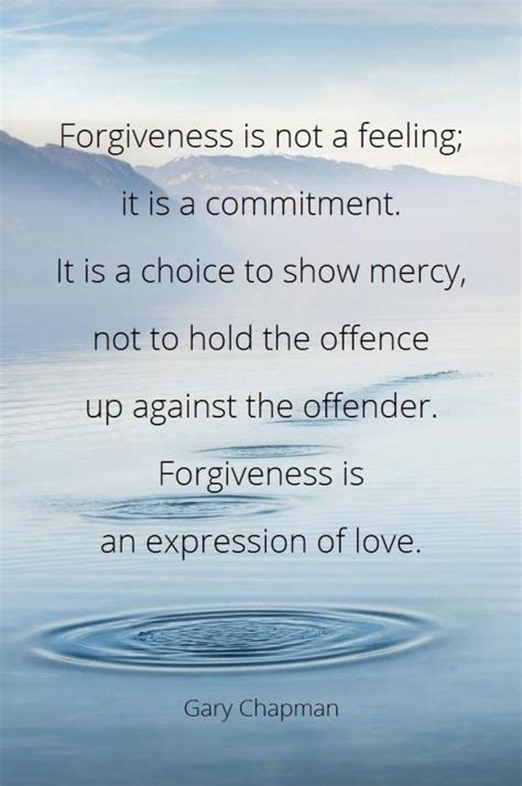 not a choice not forgiveness is not a feeling it is a commitment it is a choice picture quotes