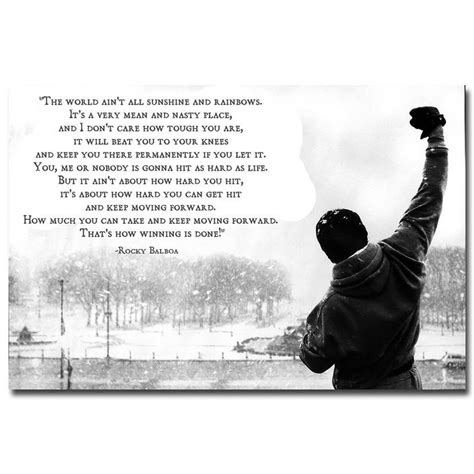 printable rocky quotes rocky balboa motivational quotes art silk fabric poster