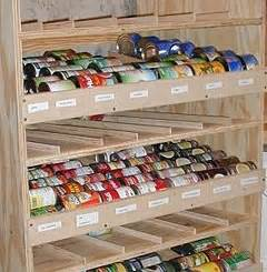 build a rotating shelf to keep canned goods at