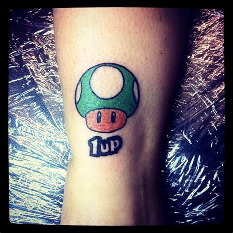 mario mushroom tattoo green mario 1up