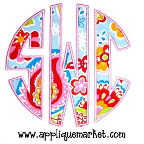 applique market applique market using embird to create a circle monogram