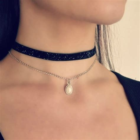 Black Choker jewellery store buy jewellery pearl chain