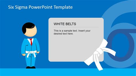 how to set up a powerpoint template six sigma white belt powerpoint slide slidemodel